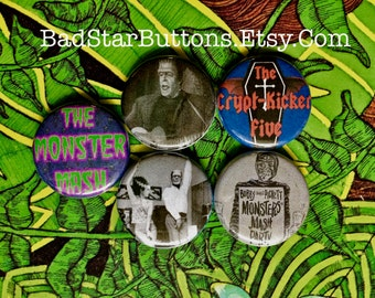 Monster Mash Button Set