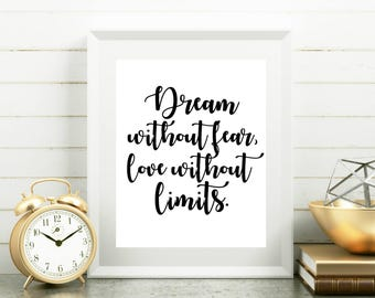 Positive Quotes, Nursery Dream Quotes, Dream Art, Dream Wall Art, Dream Wall