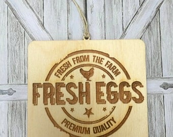 Farm Fresh Eggs, Farm House Decor, Hanging Sign, Mini Sign, Farmhouse, Tags
