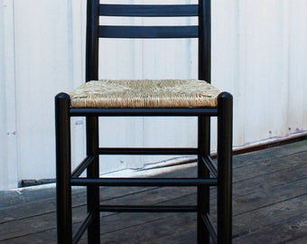wood counter height bar stool with woven seat