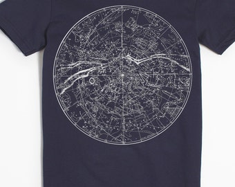 Star Shirt - Women's Astronomy Tshirt - Constellation Shirt - Women's T-shirt - Astrology Shirt - Graphic Tee