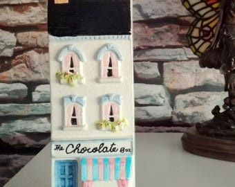 Hand Painted Ceramic House & Chocolate Shop Wall Decor