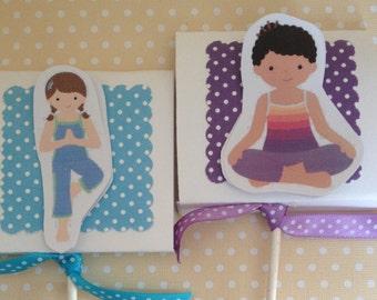 Yoga Party Lollipop Favors - Set of 10