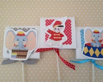 Dumbo Party Lollipop Favors - Set of 10