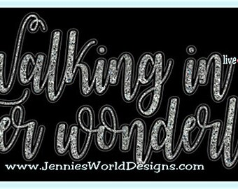 Walking in a winter wonderland Script - christmas, xmas, religious - SVG, DXF, PNG, Cut File
