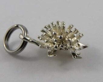 Small Hedgehog Sterling Silver Vintage Charm For Bracelet