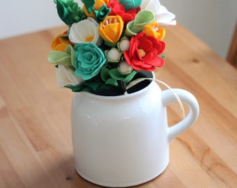 Felt Bouquet ~ Custom Felt Bouquet ~ Felt Floral Arrangement ~ Wedding Bouquet ~ Felt Flowers ~