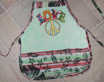 Kid Sized Love and Peace  Apron