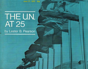 SATURDAY REVIEW ~ 1970/06/27 ~ United Nations 25th Anniversary
