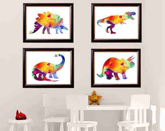 Dinosaur Wall Decor, Dinosaur Wall Art, Children's Wall Art, Little Boys Wall Art, Dinosaur Nursery, Dinosaur Decor,  dinosaur art print
