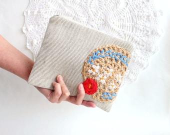 Bridal party gift for bride Makeup bag for bride Clutch bag Cosmetic bag Bridal shower gift Wedding clutch for women Bride clutch Bridesmaid
