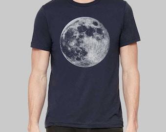 Moon Shirt, Moon, Graphic Tees for Men, Mens Tshirt, Graphic Tee, Gift For Men, Clothing, T Shirt, T Shirts For Men