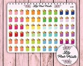72 Grocery Bag Stickers G-09 - Perfect for Erin Condren Life Planners / Journals / Stickers.