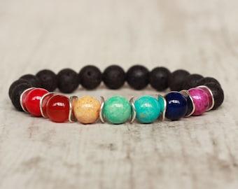 7 chakras bracelet balance calming bracelet healing yoga bracelet energy mala bracelet meditation bracelet spiritual balancing bracelet