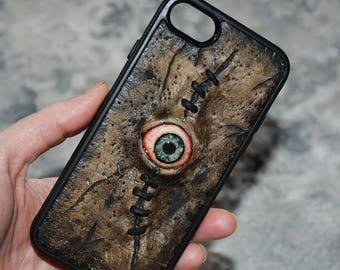 iPhone case Horror Zombie eyes Custom phone case Gift Undead Necronomicon Horror phone case Creepy phone case Mutation Taxidermy Anatomy