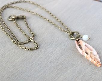 Sea Shell Bronze Necklace - Beachy Necklace, Boho Necklace, Boho Jewelry, Beach Jewelry, Bronze Jewelry, Real Shell Necklace, Pendant
