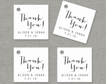 Wedding Favor Tag Template Word : Tag Template - Printable Wedding Favor Tags - Wedding Thank You Tag ...