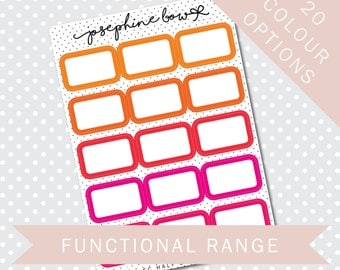 EC HALF BOXES - Functional Stickers - Planner Stickers Matt