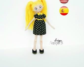 """Pattern """"Doll Nikki"""" (amigurumi crochet)"""