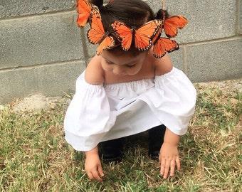 Butterfly crown . Butterfly tiara . Butterfly headband . Photo props . Butterfly theme . monarch butterfly . monarch butterfly crown