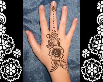 Stencils for Henna and Glitter temporary tattoo body art