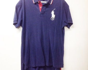 POLO BIG PONY, navy blue polo Ralph Lauren size lg
