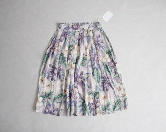 watercolor floral skirt | summer floral skirt | high waist floral skirt