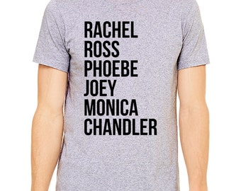 Friends Tv Show Shirt - Friends Show Shirt, I Will Be There For You, Rachel, Ross, Phoebe, Joey, Monica, Chandler, Friends Fan, 90s Shirt