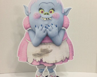 """15"""" Trolls Centerpiece,Bridget Ogre,Trolls Birthday Decorations,Party Supplies,Birthday Decorations,Trolls Movie,Party Favors,Props,Pop Corn"""