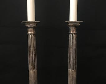 Pair of Vintage Neoclassical Candle holders. // Anniversary / Gift Idea / Candlelight Dinner / Fine Dining at Home / Entertaining / Romance