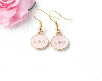 Leo earrings,Leo jewellery,Leo birthday, Leo gift, zodiac earrings, constellation earrings, gold earrings, gold drop earrings