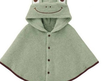 Baby Toddler shawl Cape Cloak Poncho Wrap Shawl frog