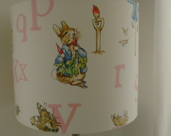 Beatrix Potter - Peter Rabbit Handmade Nursery floor Lampshade.
