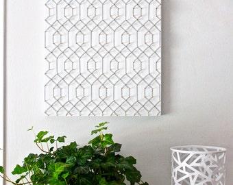 Geometric wall art, modern wall art, minimalist wall art, bedroom wall art, living room wall art, black and white, gold and black