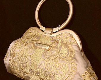 Stunning!! ISABELLA FIORE Embroidered purse - very rare