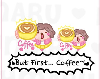 Coffee Fix Sammie || Planner Stickers, Cute Stickers for Erin Condren (ECLP), Filofax, Kikki K, Etc. || SFS34