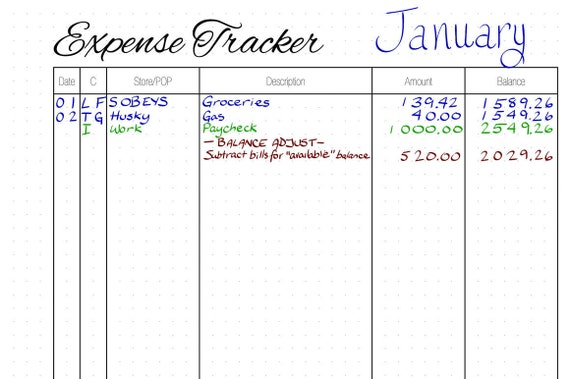 expense journal