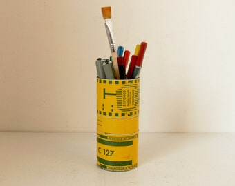 Cute Canister With 127 Film Decoration - Ideal Pencil Pot Or Desk Tidy