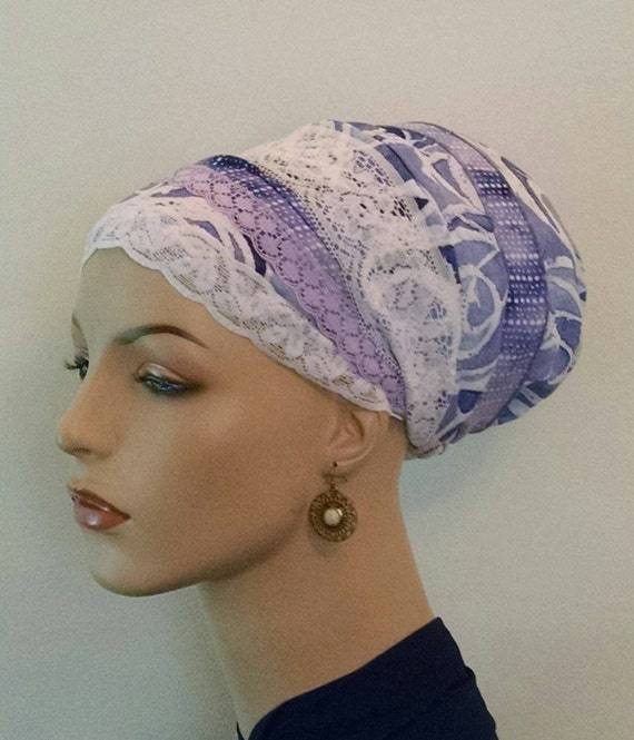 Summery Orchid sinar tichel, tichels, apron tichels, chemo scarves, head scarves, head wraps
