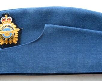 Vintage Garrison Royal Canadian Air Flight Wedge Cap, Size 7