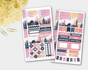 Personal Sticker Sheet,  Insert Stickers, Personal Travel, Personal Weekly, Personal Travel Sticker, Travel Sticker, Filofax Sticker Kit