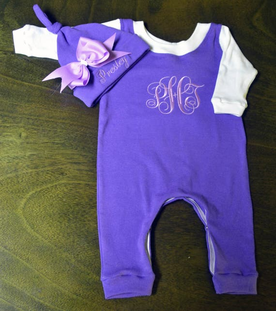 Personalized, Custom Made Baby Outfit, Upscale Baby Outfit, Going Home Outfit Girl-Newborn Baby Girl Clothes-Coming Home Outfit