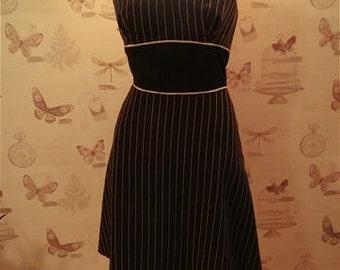 Holter Neck pin stripe dress size UK12