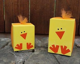 Wooden Block Easter Chicks