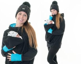 Wearing jacket baby sling carrier fleece Babywearing carrier sweater DUO