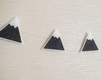 Felt Mountain Snowy Peaks Garland, Baby Nursery and Childrens Decor, Baby Shower Gift