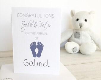 Baby Boy Card, Newborn Boy Card, New Baby Card, New Arrival Card, Congratulations Card, Baby Boy, Newborn Boy, Little Boy Card, New Arrival