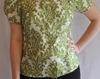 Green 90's silk shirt