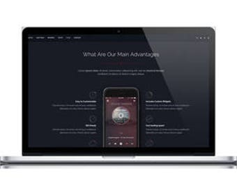 Dark Style Landing Page HTML Template - Responsive Landing Page HTML Template