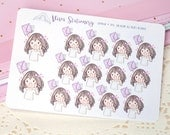 Kawaii Girl Happy Mail Stickers Version 2 ~Violet~ For your Life Planner, Diary, Journal, Scrapbook...